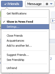 For each Facebook friend you can enable or disable showing posts in your newsfeed.
